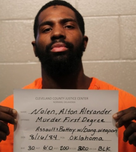 Alton Nolen police mug shot. Charged with first degree murder in OK